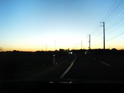夕焼け空の写真